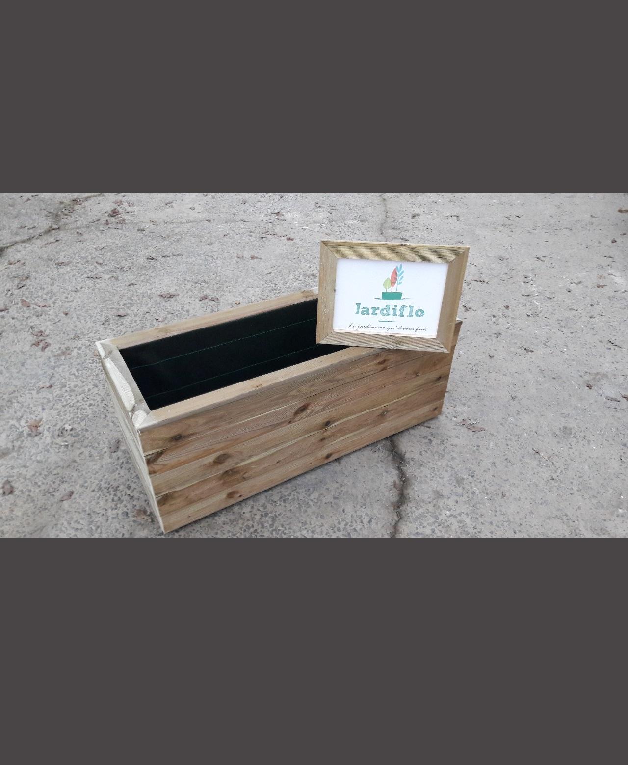 Jardini Re Rectangulaire En Bois 100x50x50 150l Standard
