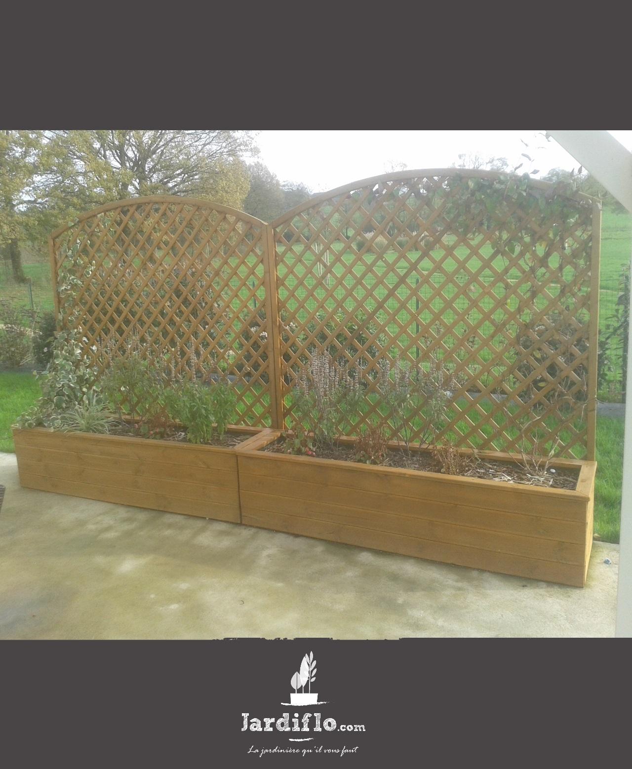 jardini re 180x45x40 180l standard treillis arrondi 180x180 jardiflo. Black Bedroom Furniture Sets. Home Design Ideas
