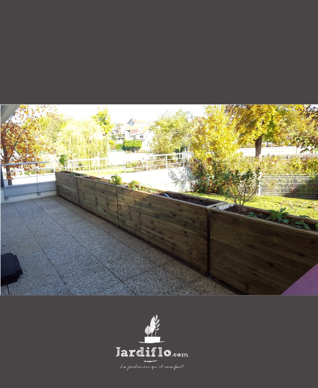 Jardini re 200x35x70 320l standard jardini re rectangulaire jardini re xxl en bois certifi - Jardiniere xxl ...