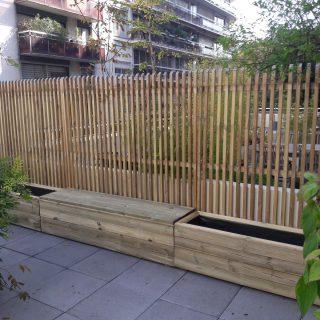 jardini re sur mesure en bois certifi fsc bac fleurs. Black Bedroom Furniture Sets. Home Design Ideas